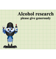 ALCOHOL RESEARCH vector image