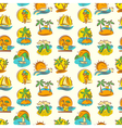 seamless pattern with tropical landscape vector image vector image