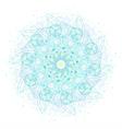 Sacred geometry symbols and elements mandala vector image