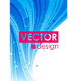 Blue abstract curve background vector image vector image