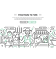 From Farm to Fork - line design website banner vector image