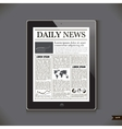 Daily News on generic Tablet PC vector image