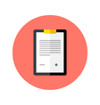 Business Clipboard Flat Circle Icon vector image