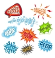 Comic Sound Set vector image vector image