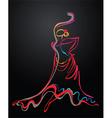 salsa lines vector image vector image