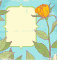Flower vintage yellow vector image vector image