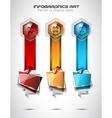 Infographic Abstract template with multiple vector image