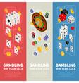 Casino isometric design concept of templates vector image