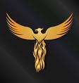 Golden Phoenix Bird vector image vector image