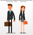 Flat Character Business vector image