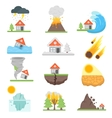 Home insurance business set vector image vector image