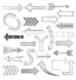 Arrows icons set sketch vector image
