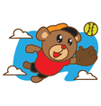 Bear Catching Ball vector image
