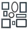 classical black picture frames vector image
