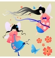 Collections of silhouettes a fairy vector image