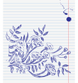 hand-drawn doodle floral background vector image