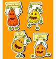 pumpkins stickers vector image