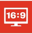 The aspect ratio 16 9 widescreen icon Tv and vector image
