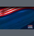 Usa flag color vector image