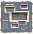 Web design template in Retro style vector image