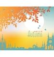 autumn town landscape vector image vector image
