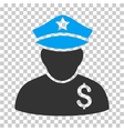 Financial Policeman Icon vector image
