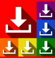 download sign   set of icons vector image