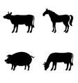 Farm animals set Livestock vector image