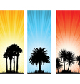 tree banners vector image vector image