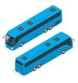 3D isometric bus Tourist bus Global vector image
