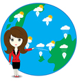 Business woman describe about global warming vector image