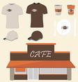 Cafe design vector image