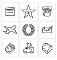 Cinema and Glory icons vector image