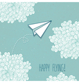 Cute hand-drawn greeting card with a paper vector image
