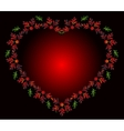 Heart of flowers for Valentines Day EPS10 vector image