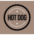 Hot Dog vintage stamp vector image