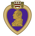 purple heart war medal vector image
