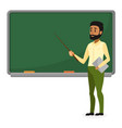 young arab teacher in modern clothes standing near vector image