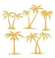 Palm Contours vector image