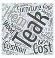 garden teak furniture Word Cloud Concept vector image