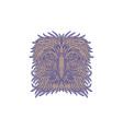 Great Philippine Eagle Head Mono Line vector image