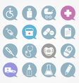 Medicine web icons set in color speech clouds vector image vector image