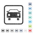 car icon rubber watermark vector image