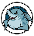 emblem shark vector image