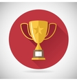 Victory Prize Award Symbol Trophy Cup Icon on vector image