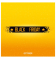 Black friday lettering on damage ribbon vector image