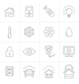 Home Automation Control Systems Icons vector image vector image