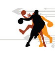Basketball direction vector image