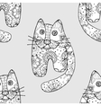 Seamless pattern od cats vector image
