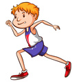 A sketch of a runner vector image